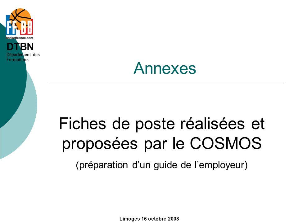 Fiches de poste réalisées et proposées par le COSMOS