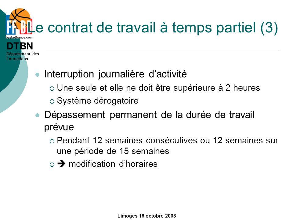 Le contrat de travail à temps partiel (3)