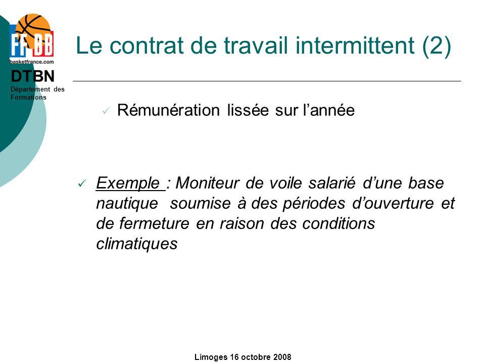Le contrat de travail intermittent (2)