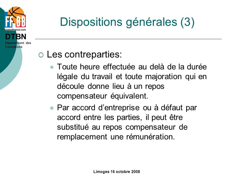 Dispositions générales (3)