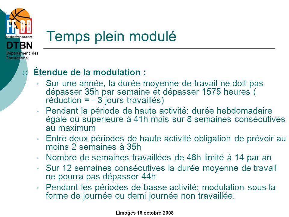 Temps plein modulé Étendue de la modulation :
