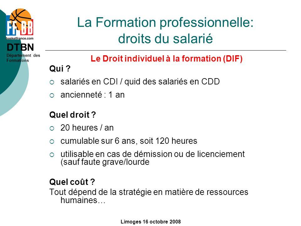 La Formation professionnelle: droits du salarié