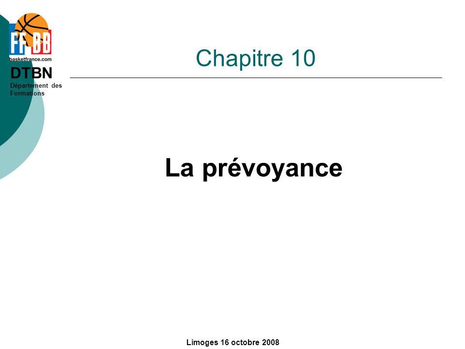 Chapitre 10 La prévoyance Limoges 16 octobre 2008