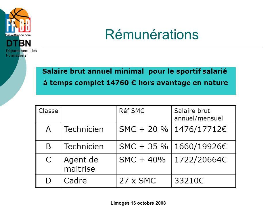 Rémunérations A Technicien SMC + 20 % 1476/17712€ B SMC + 35 %