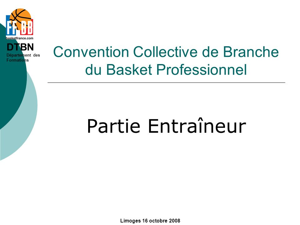 Convention Collective de Branche du Basket Professionnel