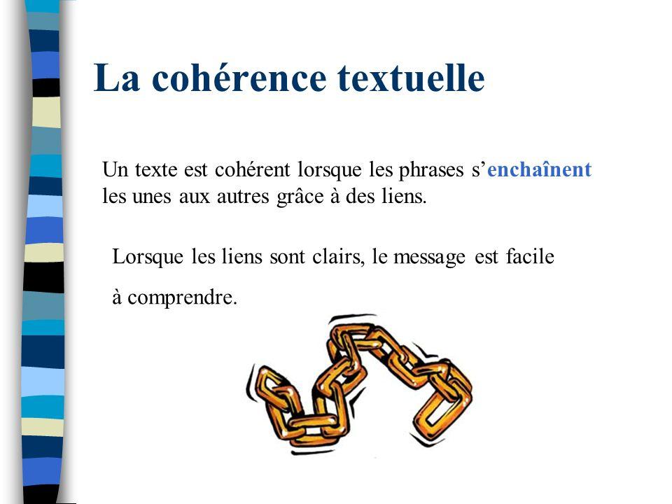 La cohérence textuelle