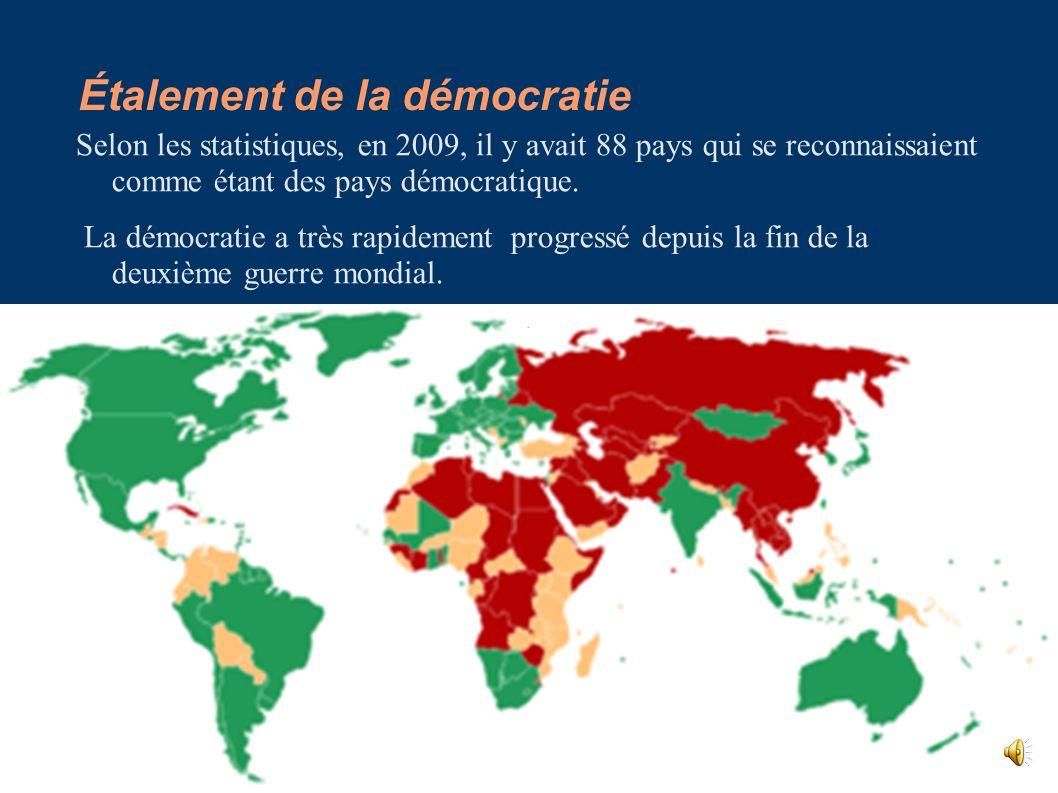 Étalement de la démocratie
