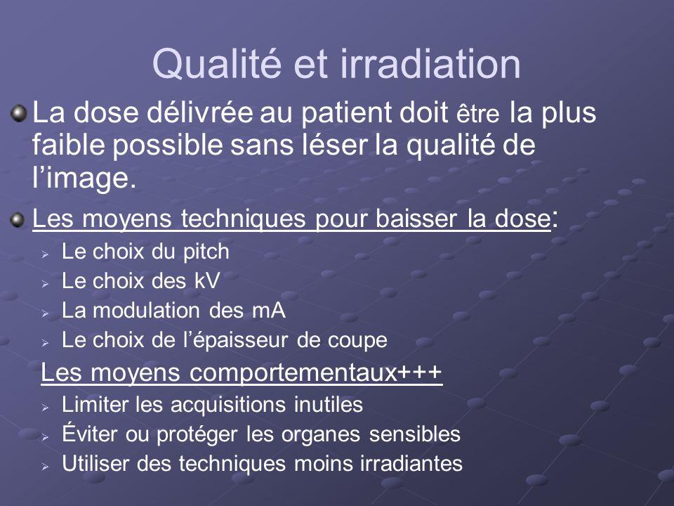 Qualité et irradiation