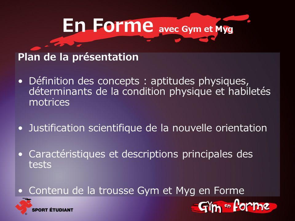 En Forme avec Gym et Myg Plan de la présentation