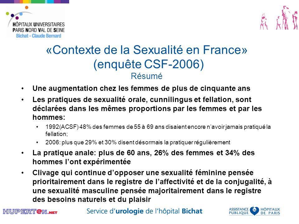 «Contexte de la Sexualité en France» (enquête CSF-2006) Résumé