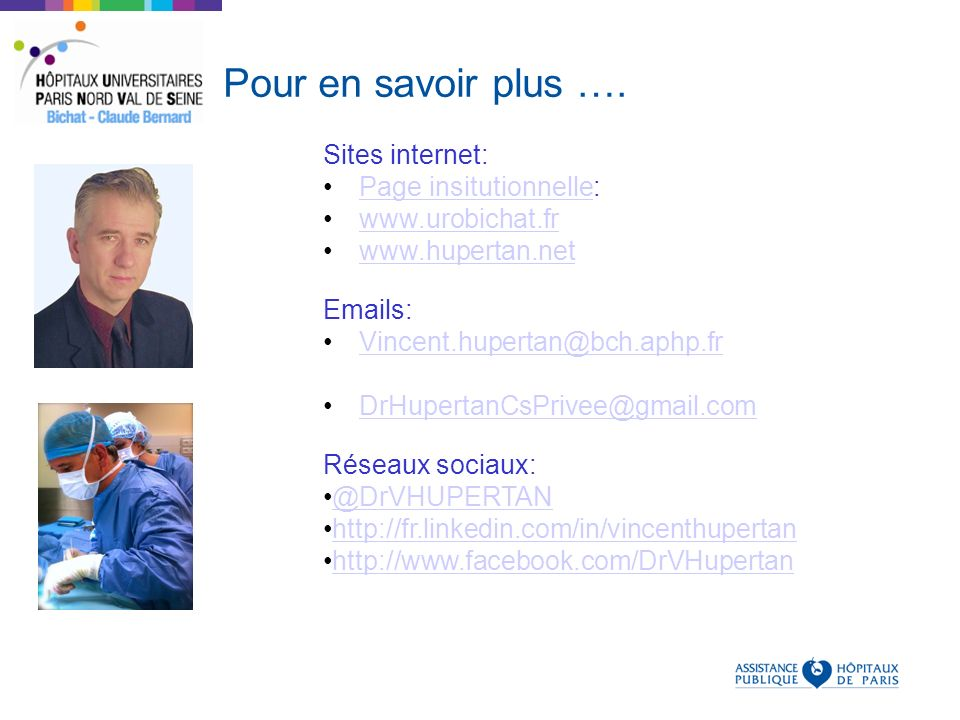 Pour en savoir plus …. Sites internet: Page insitutionnelle: