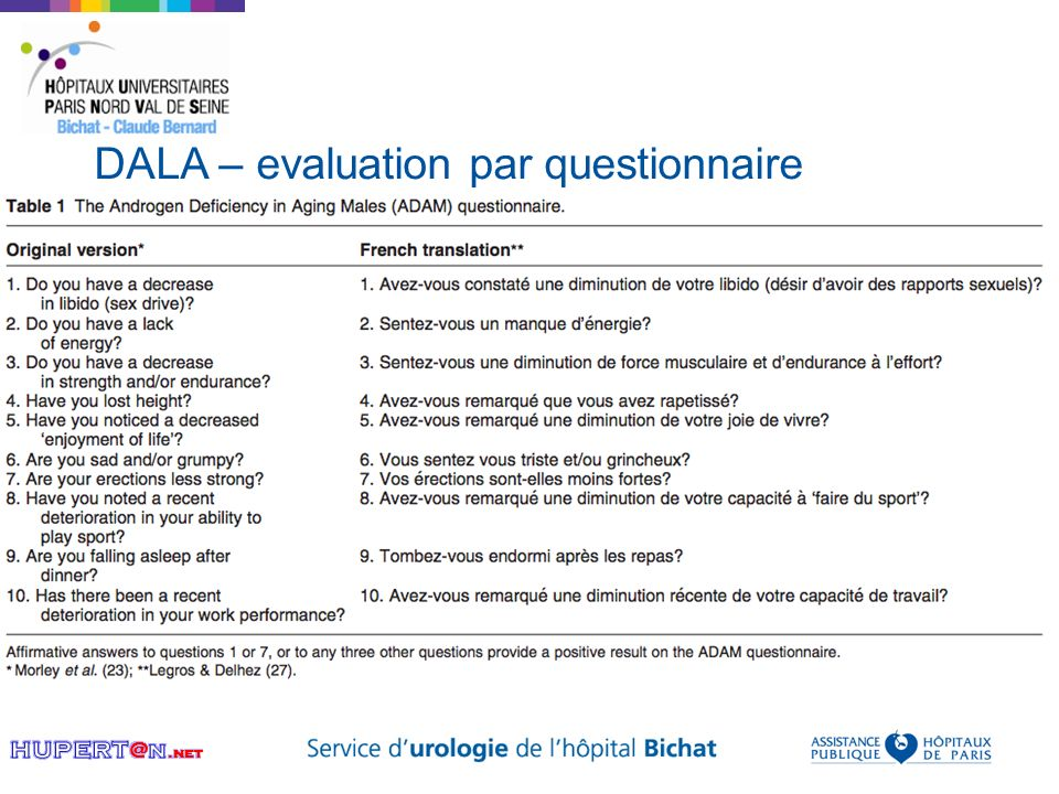 DALA – evaluation par questionnaire