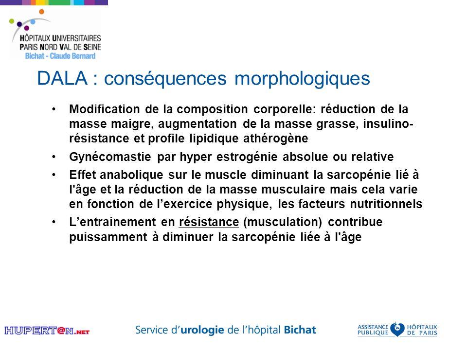 DALA : conséquences morphologiques