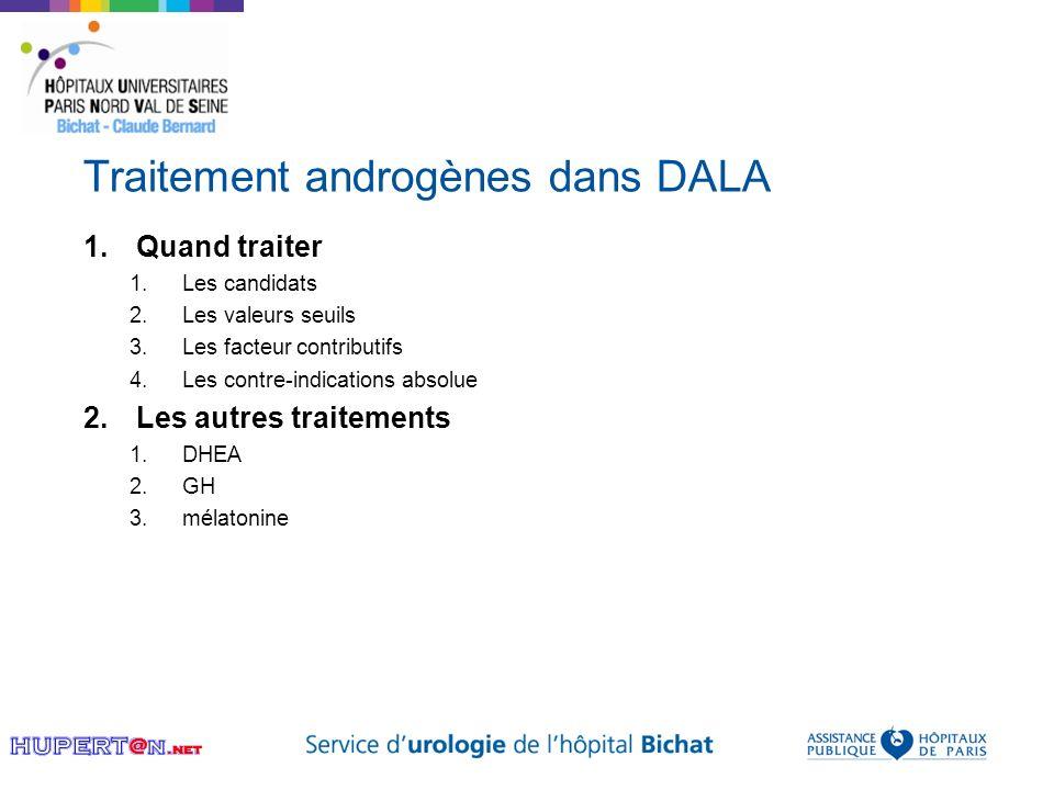 Traitement androgènes dans DALA