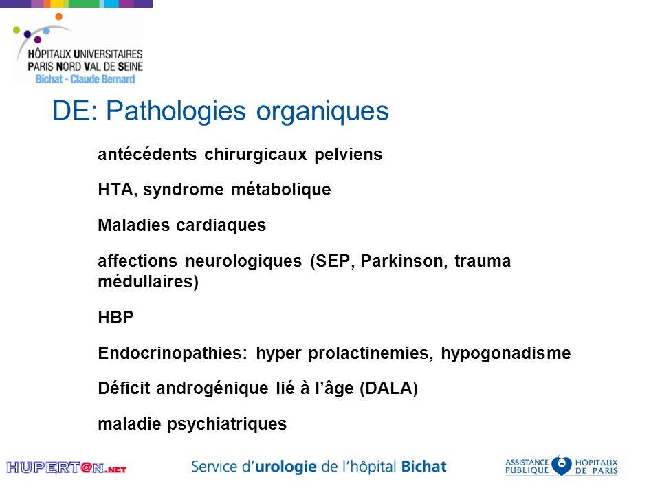 DE: Pathologies organiques
