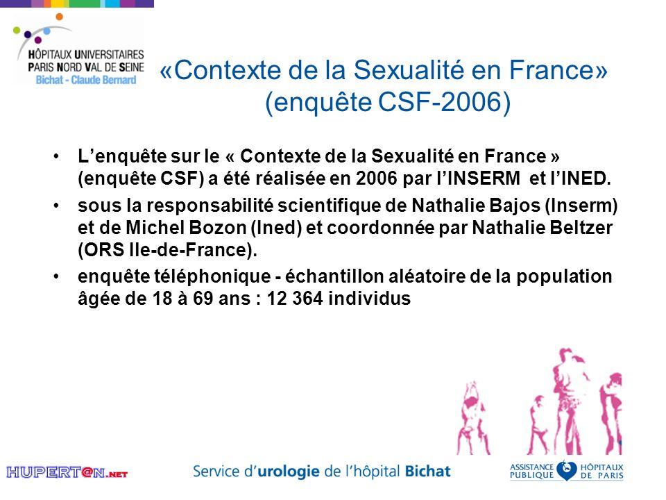 «Contexte de la Sexualité en France» (enquête CSF-2006)