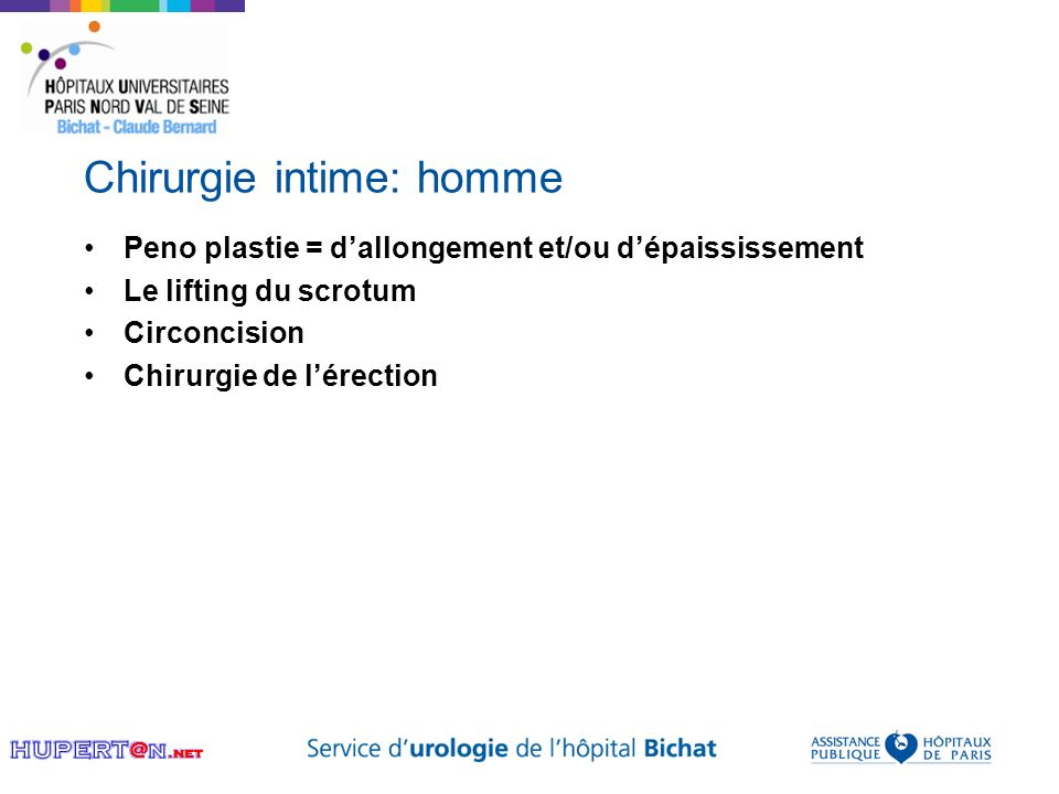 Chirurgie intime: homme