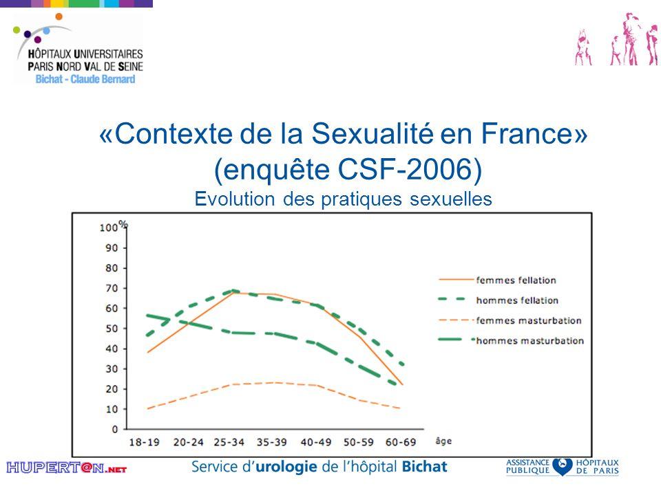 «Contexte de la Sexualité en France» (enquête CSF-2006) Evolution des pratiques sexuelles