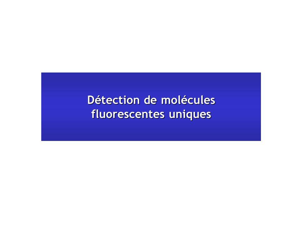 Détection de molécules fluorescentes uniques