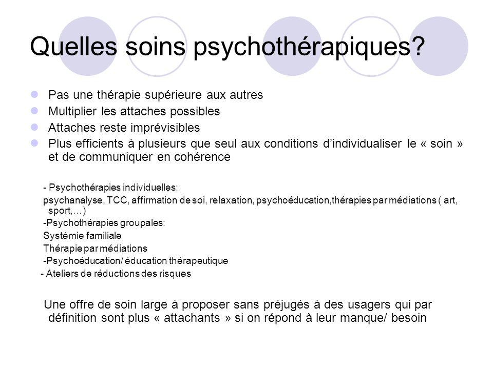 Quelles soins psychothérapiques