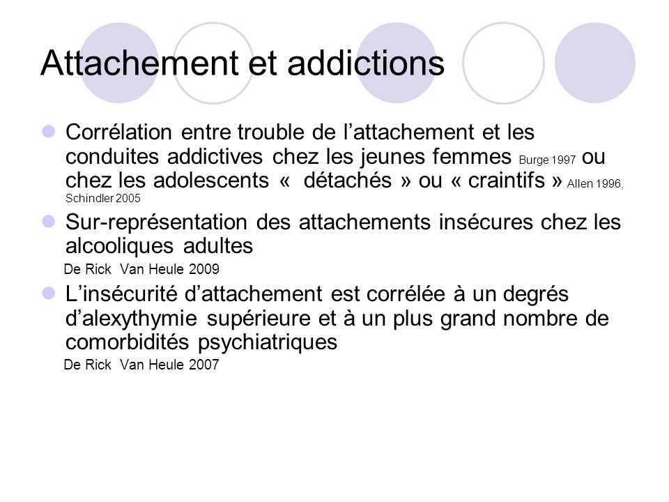 Attachement et addictions
