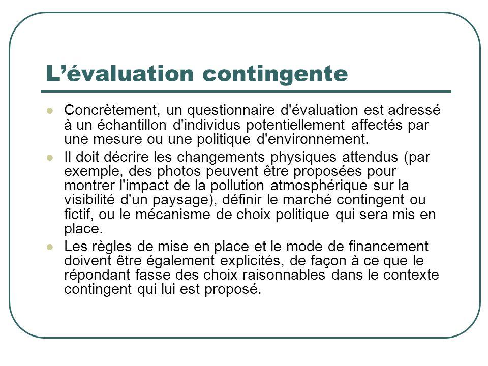 L'évaluation contingente