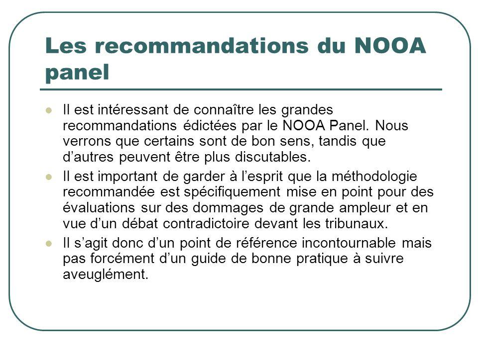 Les recommandations du NOOA panel