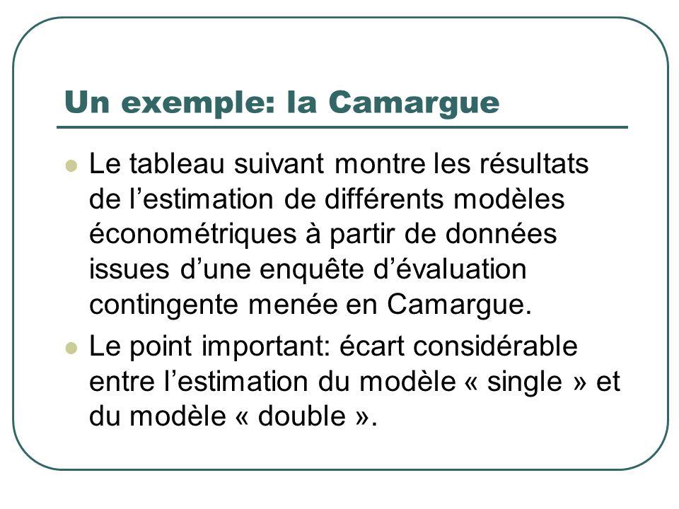 Un exemple: la Camargue