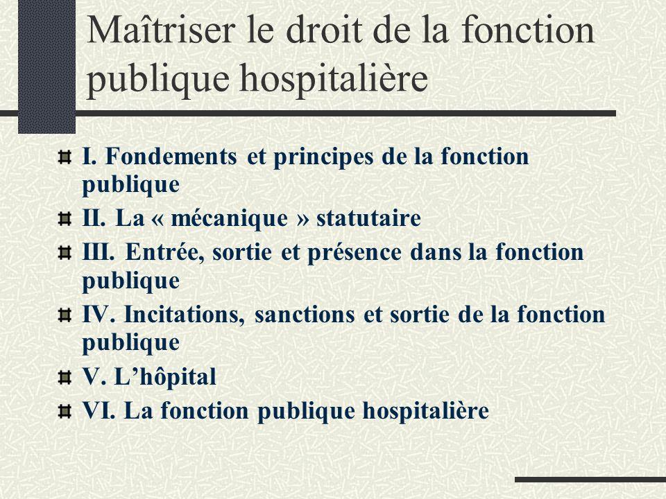 Maîtriser le droit de la fonction publique hospitalière