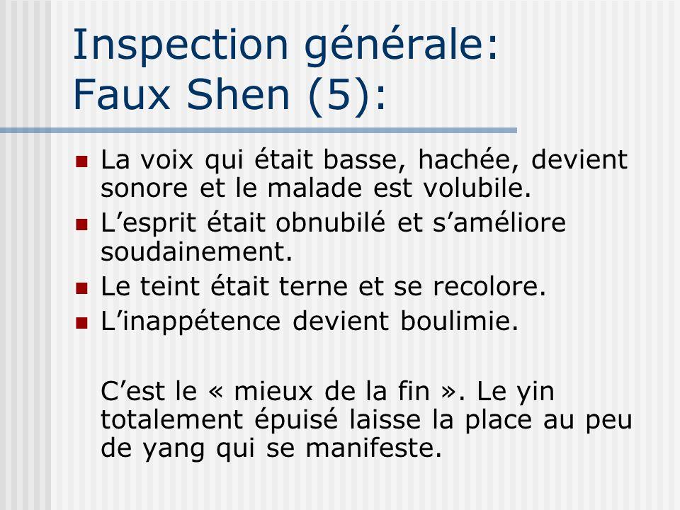Inspection générale: Faux Shen (5):