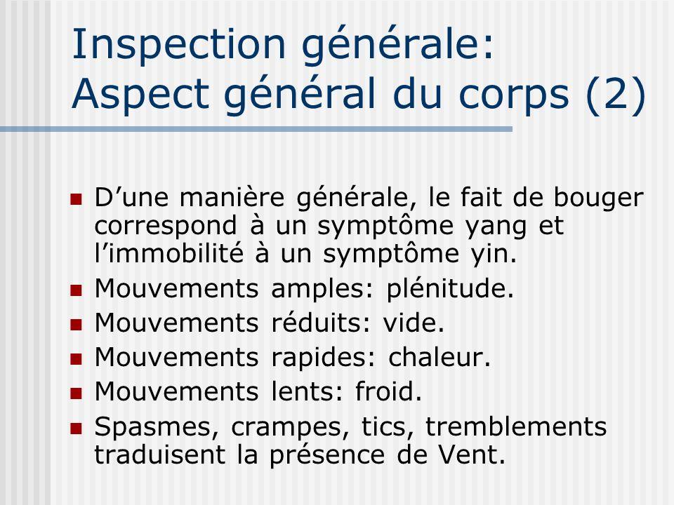 Inspection générale: Aspect général du corps (2)