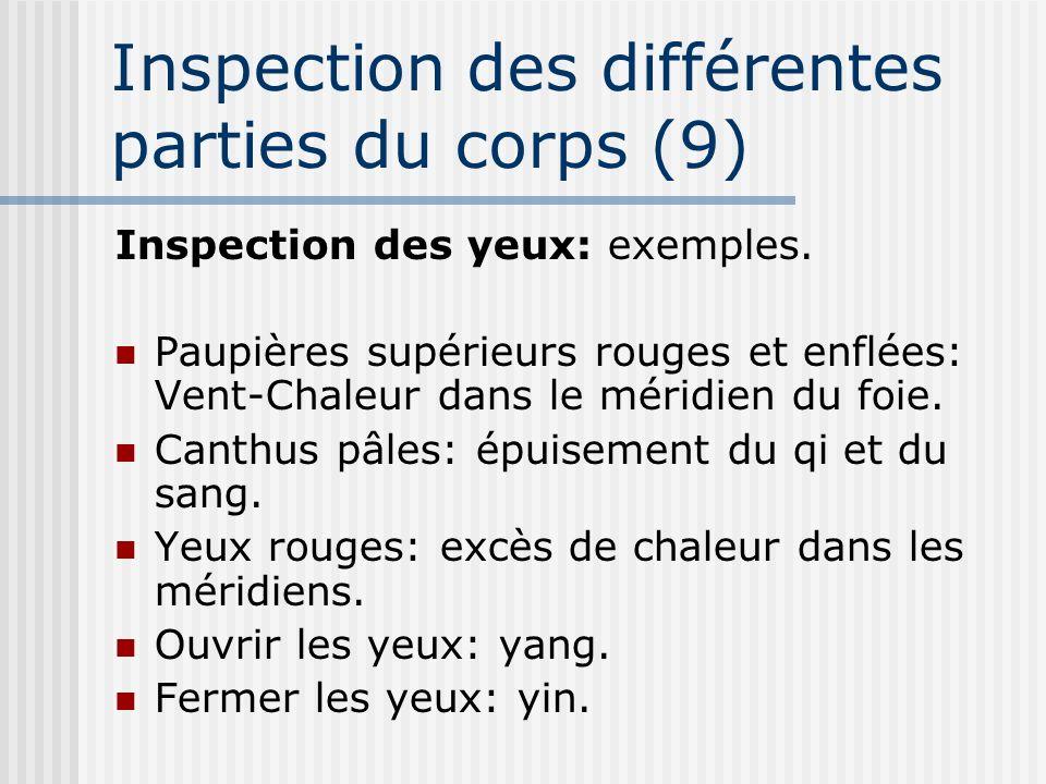 Inspection des différentes parties du corps (9)