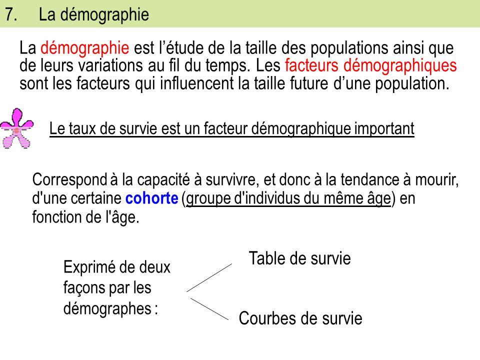 7. La démographie