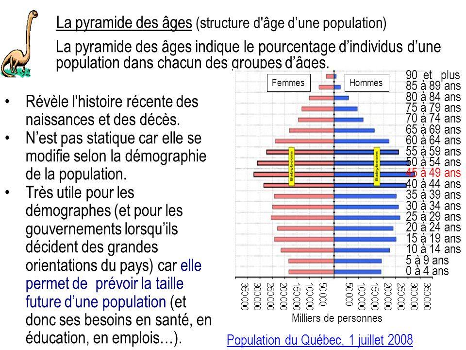 La pyramide des âges (structure d âge d'une population)