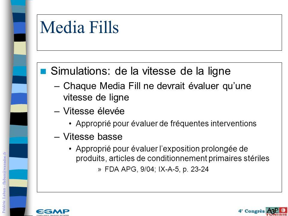 Media Fills Simulations: de la vitesse de la ligne