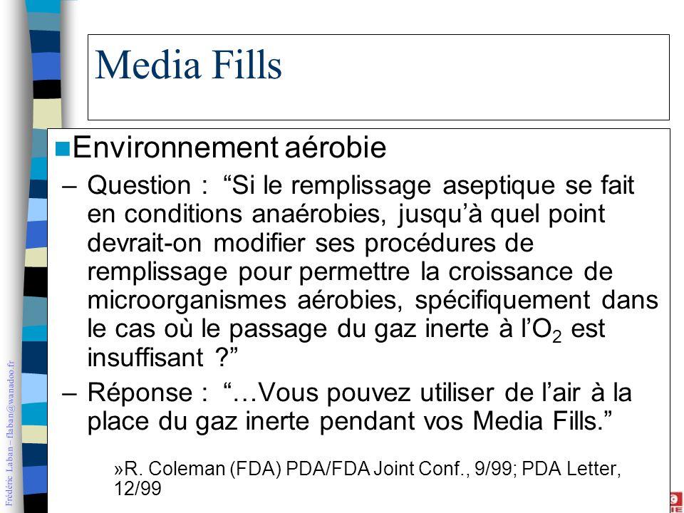 Media Fills Environnement aérobie