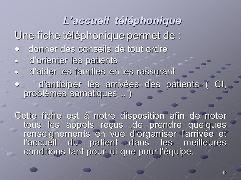 L'accueil téléphonique