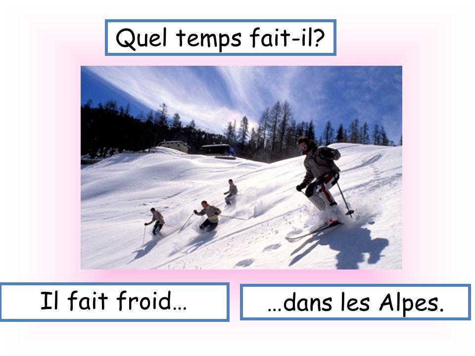 Quel temps fait-il Il fait froid… …dans les Alpes.