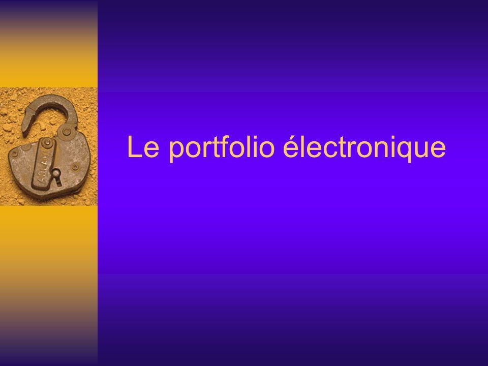 Le portfolio électronique