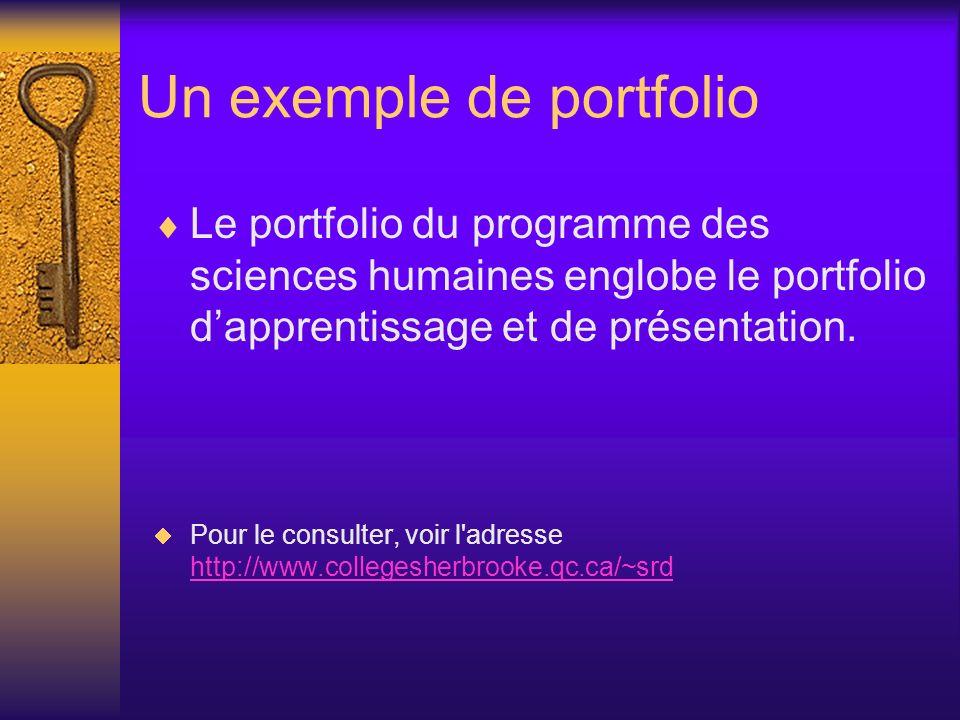 Un exemple de portfolio