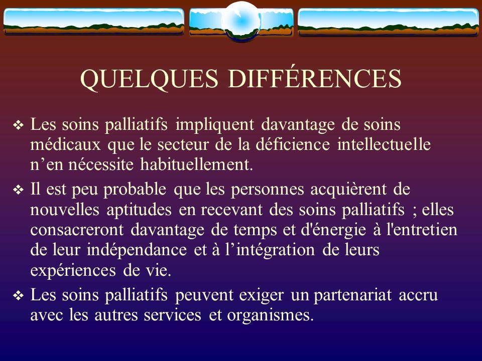 QUELQUES DIFFÉRENCES
