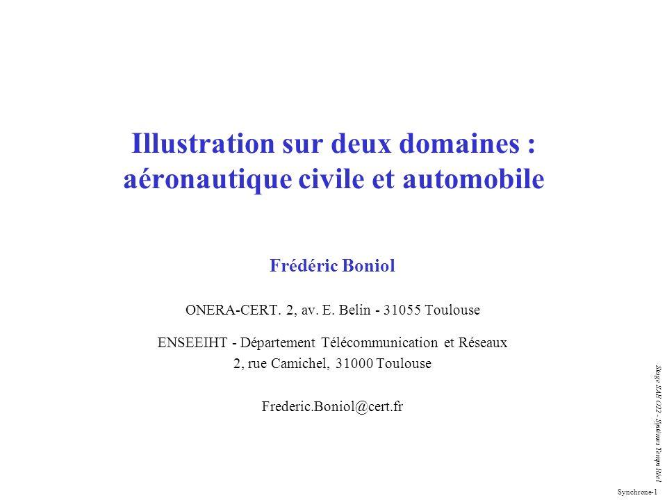 Illustration sur deux domaines : aéronautique civile et automobile