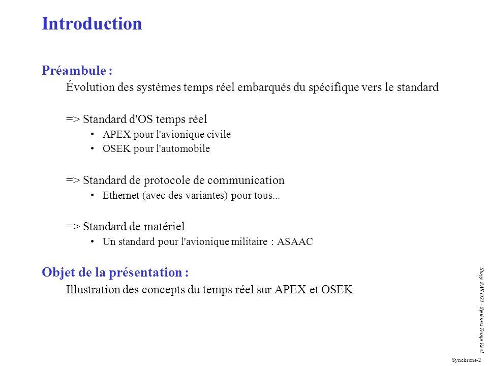 Introduction Préambule : Objet de la présentation :