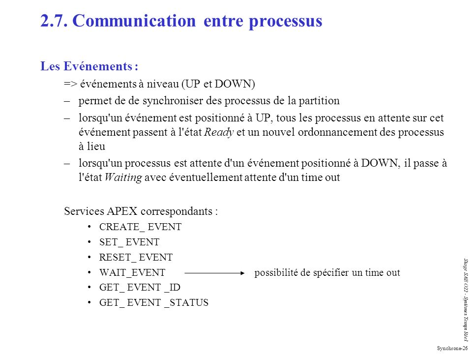 2.7. Communication entre processus