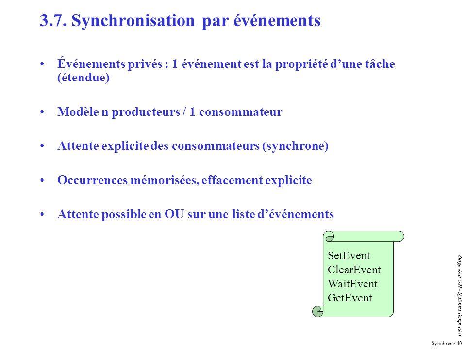 3.7. Synchronisation par événements