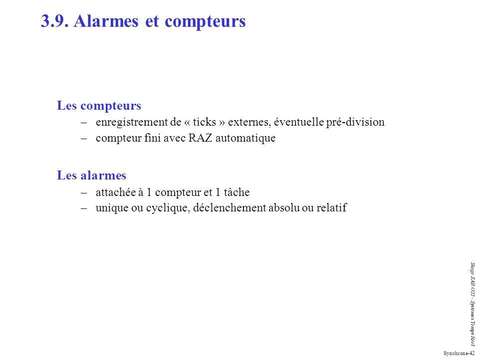 3.9. Alarmes et compteurs Les compteurs Les alarmes
