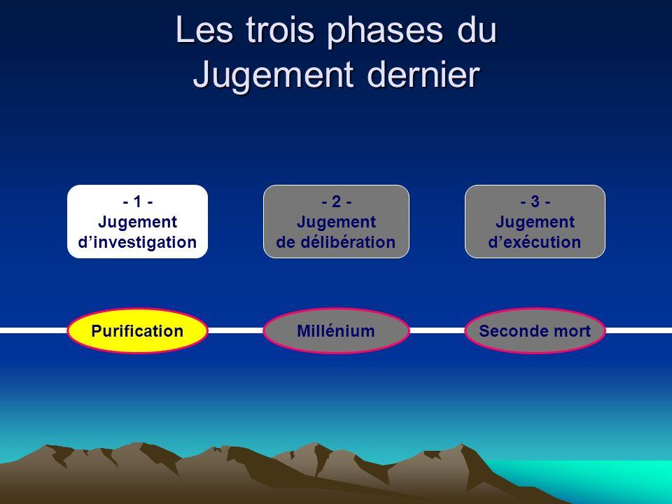 Les trois phases du Jugement dernier