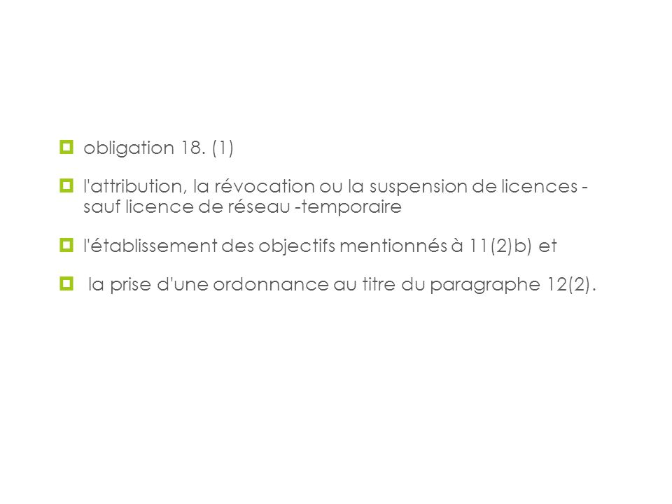 Audiences publiques obligation 18. (1)