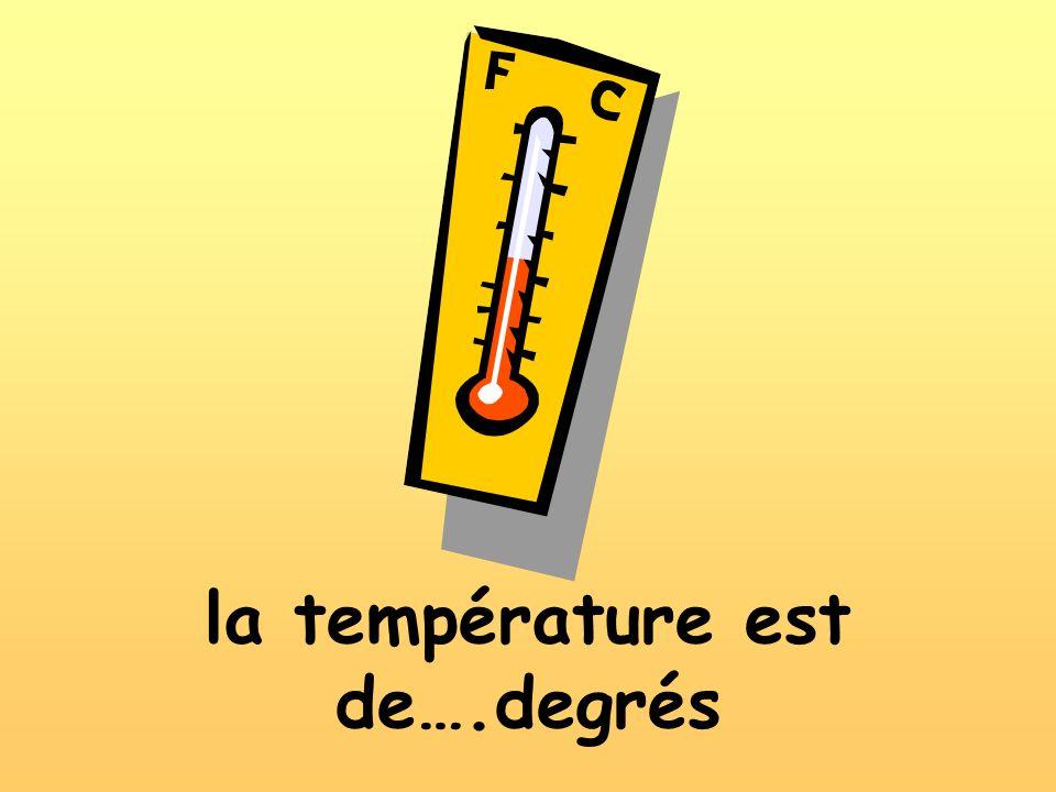 la température est de….degrés