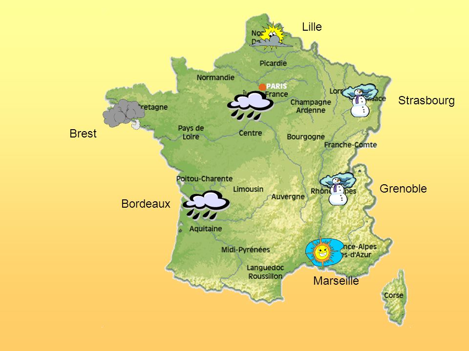 Lille Strasbourg Brest Grenoble Bordeaux Marseille